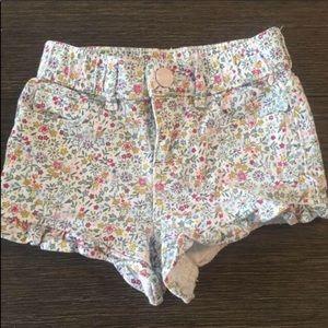 Baby Gap Floral Denim Shorts Size 18-24 months